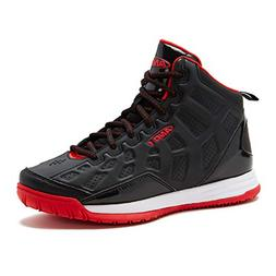 AND1 Kids Show Out Basketball Shoe, 1 M US Little Kid Black/