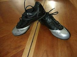 Champion silver/black soccer cleats youth sz 5