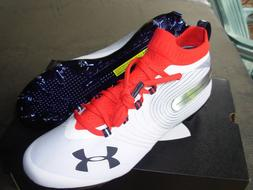 Under Armour Spotlight MC Football Cleats White Red Mens 302
