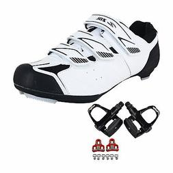 Zol Stage Road Cycling Shoes with Pedals and Cleats