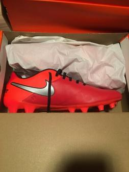 NIKE TIEMPO GENIO II LEATHER FG MENS SOCCER CLEATS SHOES Red