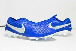 Nike Tiempo Legend 8 Elite Fg Soccer Cleats Mens Blue/White