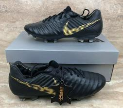 Nike Tiempo Legend VII 7 Elite FG Soccer Cleats Black Vivid