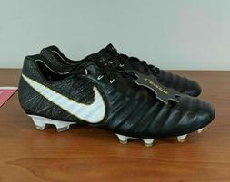Nike Tiempo Legend VII 7 FG Black White Gold Soccer Cleats 8