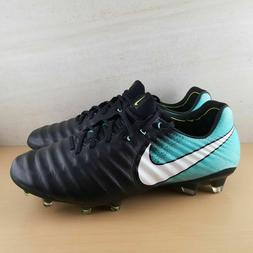 Nike Tiempo Legend VII FG Women's Soccer Cleats Black/Aqua 8
