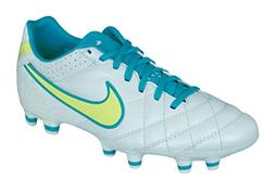 NIKE Tiempo Mystic IV FG Womens Leather Soccer Cleats-White-