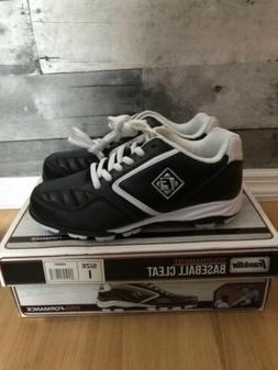 Franklin Tournament Black/White Baseball Cleat Youth 1 M US