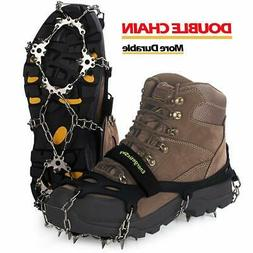 Traction Ice Cleats Crampons Ice Snow Grips for Hiking Walki