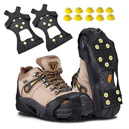 KUYOU Traction Ice Cleats, Snow Grips Ice Traction Over Shoe