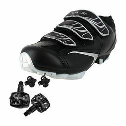 Zol Trail MTB and Indoor Cycling Shoes Pedals & Cleats Bundl