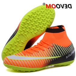 Turf Indoor Black Men Soccer Shoes voetbal Training Football