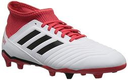 adidas Unisex ACE 18.3 FG J, White/core Black/Real Coral, 6