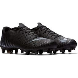 NIKE Men's Vapor 12 Academy  Soccer Cleat, Black/Black, 7.5