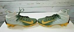 NIKE VAPOR UNTOUCHABLE PRO 3 FOOTBALL CLEATS SIZE 9 GOLD GRE