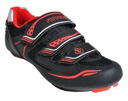 Gavin Men's VELO Road Bike Cycling Shoe, Black/Red, 43 EU