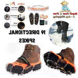 Walk Traction Ice Cleat Steel Spikes Crampon For Snow Ground