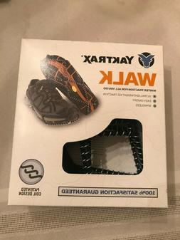Yaktrax Walker Traction Cleats for Snow and Ice Black Small