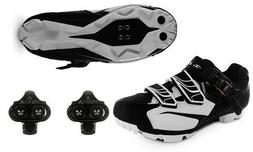 Zol White MTB Indoor Cycling Shoes + Cleats