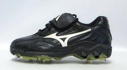 Mizuno Women's 9 Spike Black and Silver Softball Cleats - Si