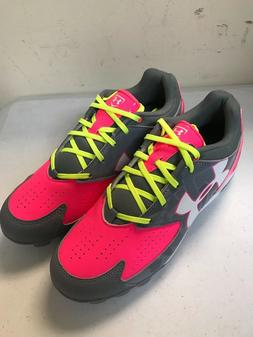 WOMEN'S SOFTBALL CLEATS, BRANDED UNDER ARMOUR PINK, GRAY & W