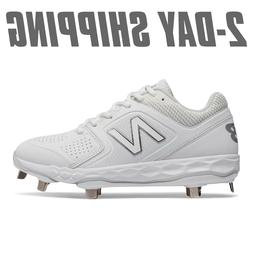 New Balance Women's Softball SMVELOV1 Metal Cleats White SMV