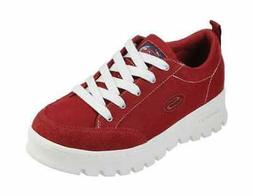 Women's Skechers Street Cleats Lucky Street Sneaker Dark Red