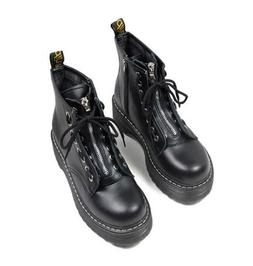 Womens Ladies Zip Creepers Chunky Cleated Platform Goth Punk