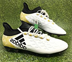 2f870d4b1 Adidas X 16.2 FG White/Black/Gold Men's Soccer Cleats Size U