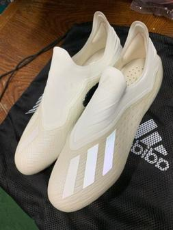 adidas X 18+ FG Cleat Men's Soccer 9 Off White-Black