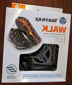 YAXTRAX WALK Traction Spiral Cleats Pull-on for Snow and Ice
