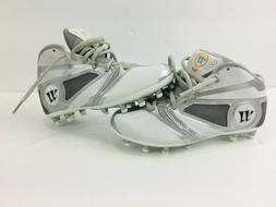 Youth Warrior Lacrosse Burn 7.0 Cleats Youth White/Grey Sz 2