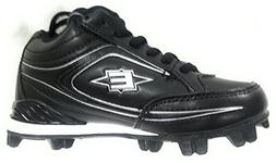 Easton Boy's Youth Titan Mid Baseball Cleats Black B24254
