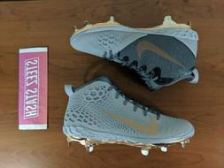 Nike Zoom Trout 5 Metal Mens Baseball Cleats Grey Copper New